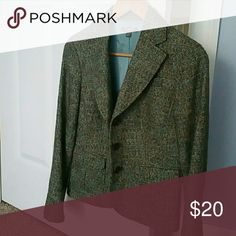 Ann Taylor Jacket Lined, 30 percent wool, 56 percent cotton. Looks great with jeans Ann Taylor Jackets & Coats Blazers