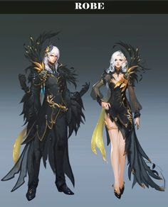 AION 5.3 - Concept art of the level 75 high daeva abyss equipment.