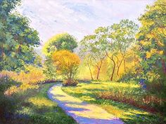 Last Greens of Summer by Nancy Gregg Oil ~ 18 x 24