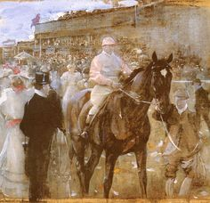 The Race Course by JOSEPH CRAWHALL, R.S.W. (1861 - 1913)