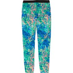 Sandro Pressage floral-print twill tapered pants ❤ liked on Polyvore
