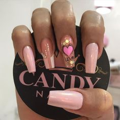Cute Acrylic Nail Designs, Short Nail Designs, Glam Nails, Beauty Nails, Winter Nails, Spring Nails, Love Nails, My Nails, Blue Acrylic Nails