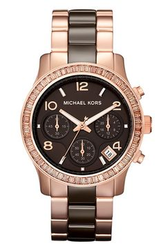Michael Kors 'Runway' Ceramic Bracelet Watch available at #Nordstrom....love #reloj #michaelkorsmujer #relojmichaelkors #relojes #michaelkorscolombia #colombia
