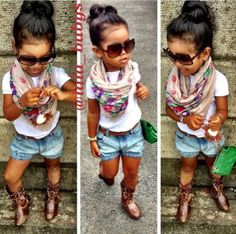 Love this little girls style!