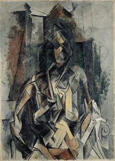 Femme assise dans un fauteuil, Picasso, 1910