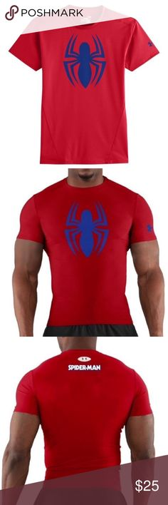 Men's Under Armour Marvel Alter Ego Spiderman Tee New with tags-retail. $44.99 MSRP.  Listed on Merc for cheaper!!! Lightweight UA Tech™ fabric with an ultra-soft, natural feel for unrivaled comfort Signature Moisture Transport System wicks sweat away from the body Anti-Odor technology prevents the growth of odor causing microbes Smooth Flatlock Seams allow chafe-free motion polyester Spider-Man is property of ©Marvel Under Armour Shirts Tees - Short Sleeve