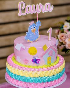 check out 50 models to get inspired - Birthday FM : Home of Birtday Inspirations, Wishes, DIY, Music & Ideas Baby Birthday Cakes, Birthday Table, Girl Birthday, 30 Cake, Types Of Cakes, Wedding Topper, Tropical Party, Ideas Para Fiestas, Small Cake