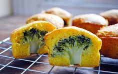savory cakes with a broccoli surprise - maybe kids would find this fun! and adults alike ;)