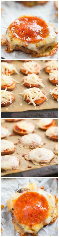 Sweet Potato Pizza Bites