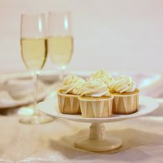 champagne cupcakes! #cupcakes