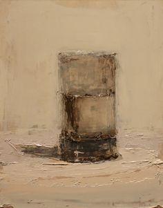 "Brian Blackham untitled 8.5 x 11""  oil on panel"