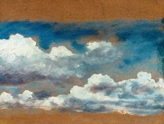 John Constable Drawings | Constable, Cloud Study. - John Constable as art print or hand ...