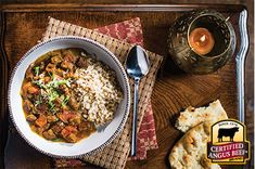 Slow Cooker Beef Tikka Masala: Taste the difference. There's Angus. Then there's the Certified Angus Beef ® brand. Beef Tikka Masala Recipe, Lamb Tikka Masala, Slow Cooker Tikka Masala, Masala Curry, Carne Picada Recipes, Beef Kabob Recipes, Jerky Recipes, Cooking Recipes, Yogurt Recipes