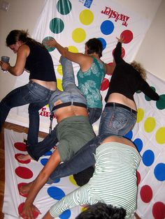 """epic twister!! just need to add """"strip twister"""" and oh my what a party or cable show that would be."""