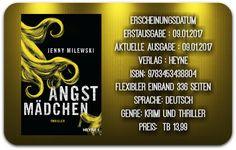 "Leserattes Bücherwelt: [Lesefuchs Rezension] ""Angstmädchen"" Jenny Milewsk..."