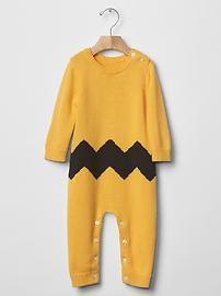 babyGap + Peanuts® chevron sweater one-piece