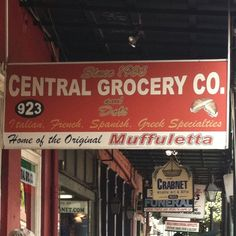 in the Quarter; home of the muffaletta