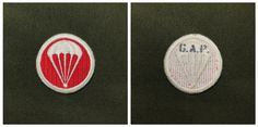 WW2 US Replica Paratroper Artillery Cap Patch, Made By Green Army Productions.