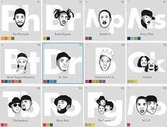 Designers Create A Periodic Table To Celebrate The History Of Hip-Hop