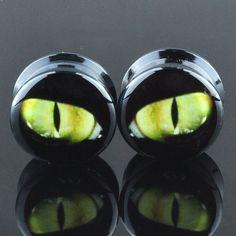 Cat Eyes Acrylic Plugs – Arctic Buffalo