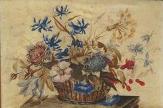 France, bouquet, gouache on vellum paper, 18thc
