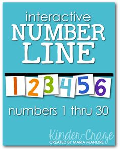 FREE download to create an interactive number line for your classroom