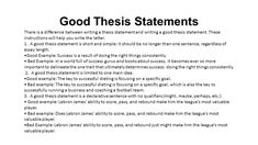 Characteristics Of A Well Written Thesis Statement  Buy An Essay