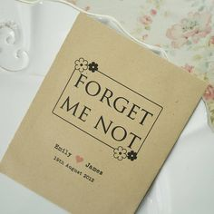 'Forget Me Not' Seed Packet Favour from notonthehighstreet.com