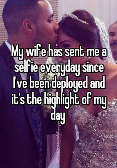 """Someone posted a whisper, which reads """"My wife has sent me a selfie everyday since I've been deployed and it's the highlight of my day """" Military Marriage, Military Relationships, Military Deployment, Military Girlfriend, Military Love, Boyfriend, Airforce Wife, Usmc, Marines"""