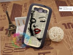 Samsung Galaxy S3 Case Samsung Galaxy S3 Phone Case Samsung Galaxy Cover Hard Plastic or Silicon Rubber Cases - Marilyn Monroe Dictionary. $15.99, via Etsy.