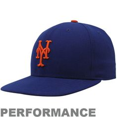 Youth New York Mets New Era Royal AC On-Field 59FIFTY Performance Fitted Hat, $25.99