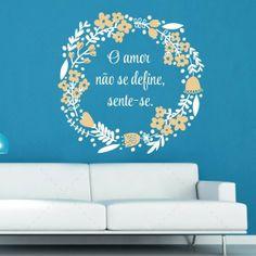 O amor não se define, sente-se.Autocolante decorativo de parede em vinil.