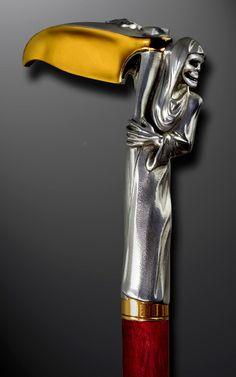 walking sticks   Handmade Walking Cane / Handmade Walking Stick: GRIM PEAPER by Boris ...