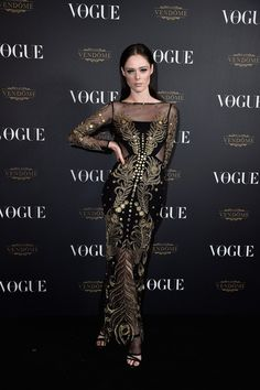 Coco Rocha attends the Vogue 95th Anniversary Party on October 3, 2015 in Paris, France.