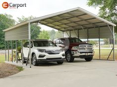 With a deposit of $988, you can order this 22'W x 26'L x 10'H double #carport today! Price as described is $5,810 (check with us about specific pricing for your location). Call us at (866) 311-0822 & mention item: 222610TCMC to get your 𝙤𝙬𝙣 #custom #building started! Double Carport, Metal Carports, Your Location, Canning, Building, Outdoor Decor, Check, Buildings, Home Canning