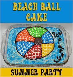 Beachball Themed Cookie Cake