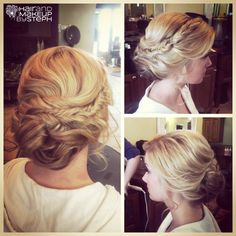 Hair and Make-up by Steph - Fishtail braid updo Wedding Hair And Makeup, Bridal Hair, Hair Makeup, Fancy Hairstyles, Wedding Hairstyles, Wedding Updo, Bridesmaid Hair, Prom Hair, Prom Updo