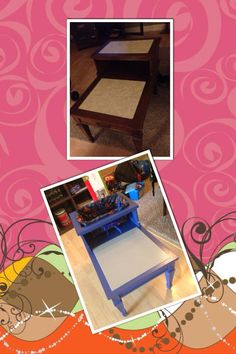 One of our Creative Customers tuned an end table into a Lego table for her son!