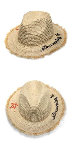 cce448edd GGOMU NEW summer fashion sun hats for women Embroidery star letters Frawned  Rafi floppy ladies girls straw hat