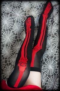 Skeleton Over The Knee Sock