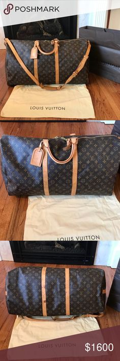 Auth⚜️Louis Vuitton⚜️Bandolier (Largest&CarryOn)🤑 Authentic Louis Vuitton Bandolier 60❣️Made in 🇫🇷. Date code MB1006. Comes w/everything from store purchase as seen in pics. The largest size available by LV & perfect to use as a commercial flight carry on as long as it's not completely over packed making it over the weight limit...something I would do so private is the way to go!😍🍸🛩🤑 Louis Vuitton Bags Travel Bags