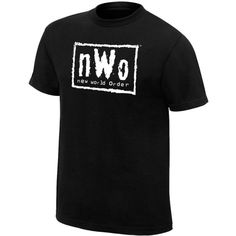 NWO Retro T-Shirt ❤ liked on Polyvore featuring tops, t-shirts, wwe, classic fit t shirt, retro tees, retro tops and retro t shirts