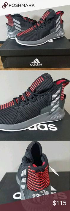 watch 95cb5 7efcc Adidas D Rose 9 Basketball shoes New Black Red Adidas D Rose 9 Derrick Size  9.5