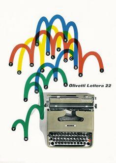Olivetti Lettera 22 poster by Giovanni Pintori (1954). Courtesy Associazione…