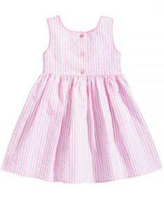 Marmellata Striped Seersucker Dress, Baby Girls - Pink 3-6 months