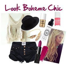 Look Boheme Chic by mathildebounhol on Polyvore featuring polyvore fashion style Eugenia Kim Benefit NARS Cosmetics Smashbox Models Own