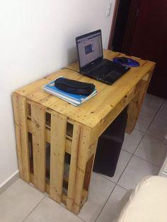 escrivaninha sustentável feita com pallets - sob encomenda