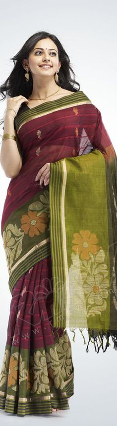 Cotton Saree - original pin by @webjournal