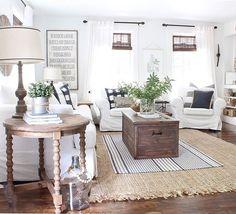 Sunroom decor~ Whites, creams, neutrals, linen and cottons
