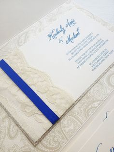 Lace Wedding Invitation by MilanoInk on Etsy, $9.50